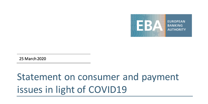 Statement on consumer protection and payments in the COVID19 crisis